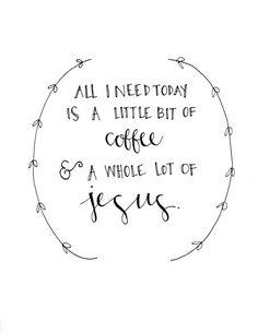 Jesus & Coffee Print by evannicoledesigns on Etsy, $15.00