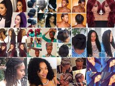 Protective Hairstyles for the Fall:Check out these awesome natural hairstyles. Faux locs, poetic braids, crochet braids, wigs, extensions, cornrows,