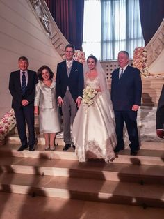 Het Bruidspaar en de Kroonprins en Prinses van Servië