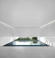 I'm in love with the indoor/outdoor and level of privacy/warmth you could have in this pool.