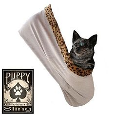 Pet Flys 500-071 TCLGXL Punky Skull Rhinestone Puppy Holdem Sling Tan with Cheetah Trim, Large/X-Large -- Read more at the image link. (This is an Amazon affiliate link)