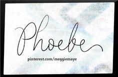 Baby girl's name Phoebe.