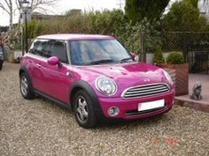 my next mini cooper will so be pink hahah or purple if possible!