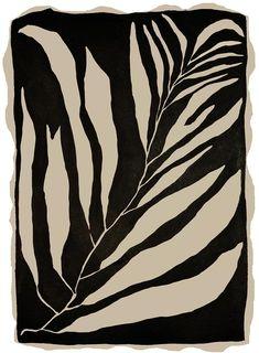"""Sea Branch Two"" Tuschemalerei auf Bütten von Kate Roebuck Plant Illustration, Black Flowers, Contemporary Art, Modern Art, Ink Painting, Art Plastique, Botanical Art, Art Inspo, Printmaking"