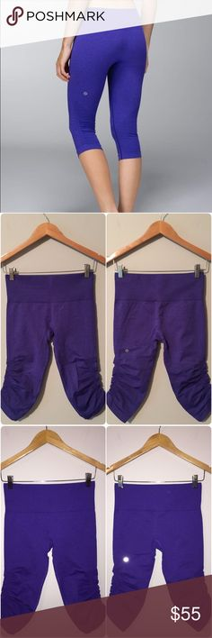 Lululemon In The Flow Crop Lululemon In The Flow Crop, size 6, excellent condition with no flaws, pretty purple color(not sure of exact color name), looks just like modeled picture. Bundle to save 😊💜🌺 lululemon athletica Pants Ankle & Cropped