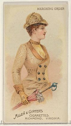 24e05c08dccc Marching Order, from the Parasol Drills series (N18) for Allen  amp  Ginter