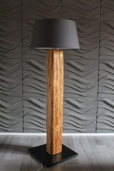 Stehlampe Stehleuchte Lamp Leucht Wohnzimmerlampe Standleuchte Lampenschirm Floor lamp made of old wood beams For rustic flair in your home - the old wood beams are brushed and painted Dimensions: Wood Floor Lamp, Lamp Light, Wood Diy, Room Lamp, Wood Lamps, Wooden Lamp, Floor Lamp Design, Floor Lamps Living Room, Candle Lamp