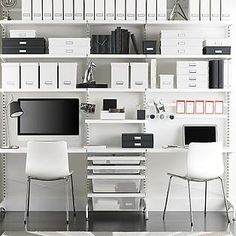 The Container Store > White elfa décor freestanding Home Office