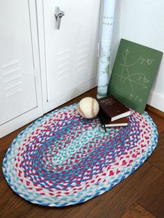 6 Easy DIY Rug Projects: How to Make a Braided Rug with Upcycled T-Shirts >> http://www.diynetwork.com/decorating/6-easy-diy-rugs-projects/pictures/index.html?soc=pinterest