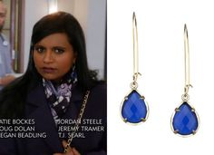 Mindy's picked up another pair of these drop earrings - this time in a blue that brings out the colors in her scarf. Kendra Scott Dee ...