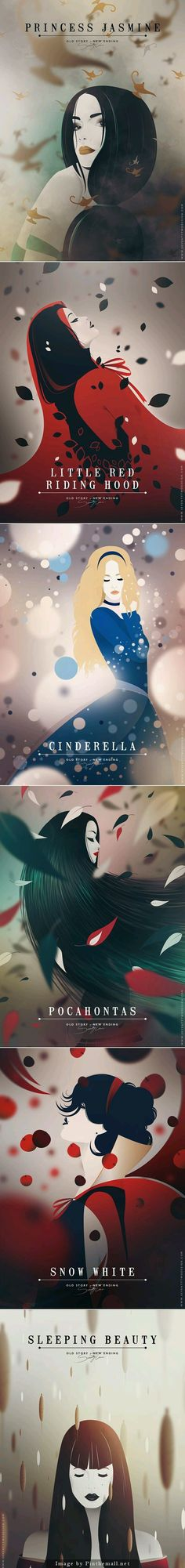 Fan Art: Disney princesses.