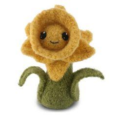 Felted Knit Daffodil ~ Free Pattern