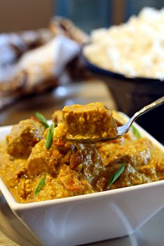 """Chicken Korma - In the interest of full disclosure, I feel that I must confess to you that this is NOT a """"light"""" recipe. This is not vegetarian, vegan, gluten-free, paleo, or dairy-free. But it is dee-lish-shuss. For reals. No joke."""