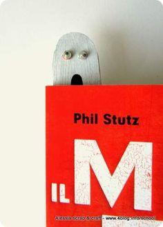 Lavoretti di Halloween: il fantasma segnalibro    Halloween Ghost Bookmark