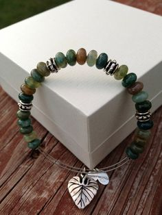 Alex and Ani Inspired Adjustable Beaded Bangle by LeasLOTUSJewelry, $12.00