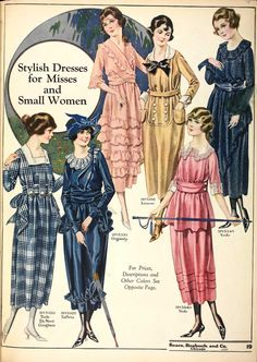Women's fashions of 1918