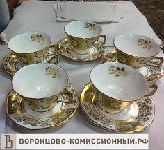 Чайная пара, 5шт, 11000 рублей(5х2200руб.), Англия, #фарфор, #посудамосква, #фарформосква, #коллекционирование, #фарфороваяпосуда