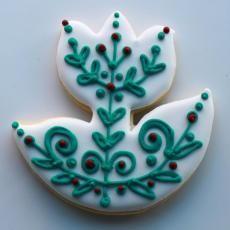 Folk Flower Cookie Gift Box