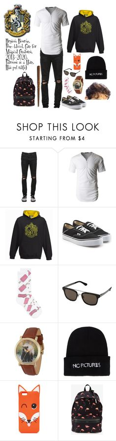 """bryson Bourne hogwarts au"" by ladyjane-irving on Polyvore featuring RtA, LE3NO, Vans, Topman, Dolce&Gabbana, Discovery Channel, Nasaseasons, Maison Kitsuné, Yves Saint Laurent and men's fashion"