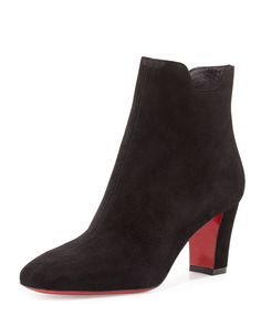 6d39830ef33a55 Christian Louboutin Tiagadaboot Suede 70mm Red Sole Bootie