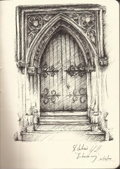 Interesting Find A Career In Architecture Ideas. Admirable Find A Career In Architecture Ideas. Gothic Architecture Drawing, Croquis Architecture, Architecture Drawing Sketchbooks, Pencil Sketches Architecture, Gothic Drawings, 3d Drawings, Drawing Sketches, Drawing Ideas, Die Renaissance