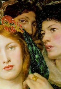 "Pre Raphaelite Art: ""The Beloved"" (detail), 1865, Dante Gabriel Rossetti"