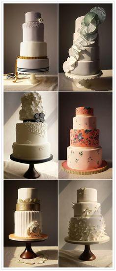 modern wedding cakes by TinyCarmen