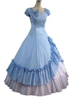 Light Sky Blue And White Pleated Cotton Classic Lolita Dress-Large-A2125 Lolita Costumes, JAPANESE LOLITA DRESSES. If you wish to buy just click on amazon below this Pinterest Pin. http://www.amazon.com/gp/product/B00AEQTXYE?ie=UTF8=213733=393177=B00AEQTXYE=shr=abacusonlines-20&=apparel=1368141205=1-112=lolita+dresses