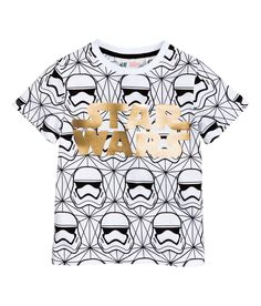 Camiseta con estampado   Blanco/Star Wars   Kids   H&M MX