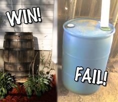 Awesome looking DIY rain barrel!  No one wants an ugly one sitting around.