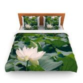 Found it at AllModern - White Lotus by Catherine McDonald Fleece Duvet Cover