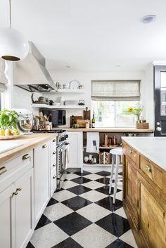 Embrace Black & White Flooring - CountryLiving.com
