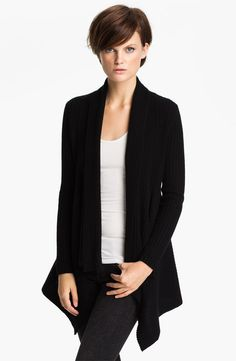 autumn cashmere Shawl Collar Drape Cardigan