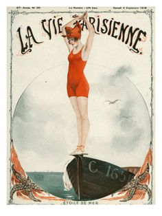 """La Vie Parisienne - Magazine Cover from Picture by Advertising Archives buy now as poster, art print and greeting card. Art Deco Illustration, Illustrations, Art Vintage, Vintage Artwork, Vintage Posters, Art Posters, Vintage Ephemera, Vintage Dress, Vintage Images"