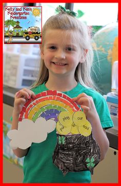 Pot o' Sight Words! Children make a pot of gold at the end of their rainbow and fill it with gold coin sight words they can read...Fun!