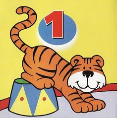 EDUCAÇÃO INFANTIL: Numerais de animais colorido para decorar sala (1-...