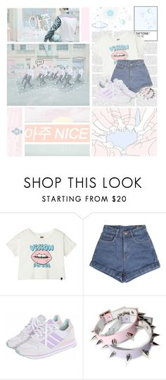 """Very Nice--- Seventeen"" by alicejean123 ❤ liked on Polyvore featuring Vision and adidas Originals"