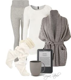 """Snowed In"" by orysa on Polyvore... Looks too comfy on a winter in Green Bay!"