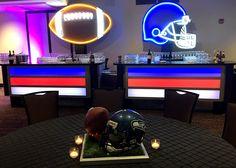 Oversized Football Helmet Neon Football decor to rent Football Decor, Football Helmets, Shag Carpet, Bar Mitzvah, Corporate Events, Neon, Dallas, Carpets, Bedroom
