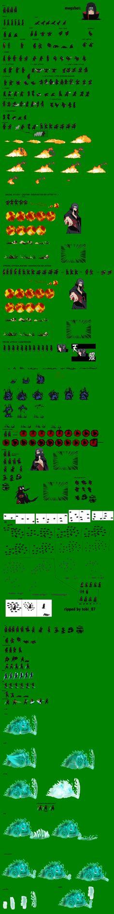 Itachi Uchiha's Other Jutsus Sprite Sheet by DanteWreckmen-999