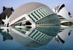 Santiago Calatrava / L'Hemisfèric at The City of Arts and Sciences, Valencia, 1998-2000, Spain