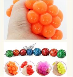 Anti Stress Face Reliever Grape Ball Autism Mood Squeeze Relief