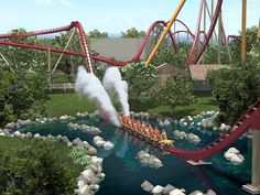 Kings Island Amusement And Waterpark In The Midwest - Shed Expedition Crazy Roller Coaster, Best Roller Coasters, Cool Coasters, Kings Island, Island 2, Public Golf Courses, Amusement Park Rides, Cedar Point, Moving To California