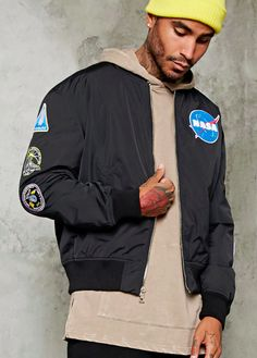 A NASA bomber jacket that makes an ~out of this world~ gift. | 34 Of The Best Gifts To Buy At Forever 21