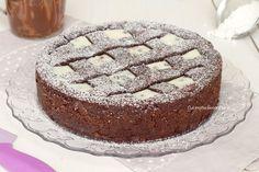 crostata al cacao con ricotta e nutella intera