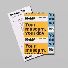 New branding system designed by New York-based Order for MoMA in Opinion by Richard Baird.