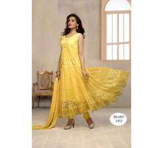 Designer Yellow Anarkali Suit |Dress Material|Ethnic Wear
