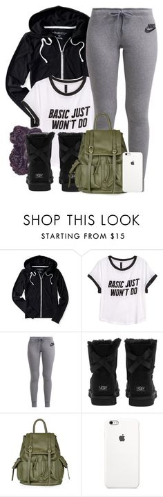 """""""Untitled #579"""" by b-elkstone ❤ liked on Polyvore featuring Aéropostale, H&M, NIKE, UGG Australia and Topshop"""