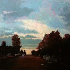 Eugenie Marais. Britstown Blues, 2012. Oil on canvas, 50 x 50cm.