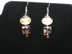 Murano Millefiori glass with large hole Euro beads by betsstuff, $15.00